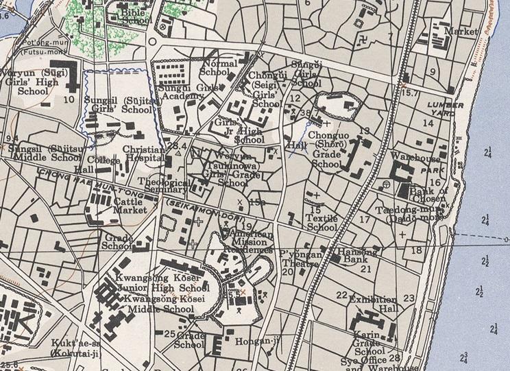 3a. Sungshil - 1946 Pyongyang Map