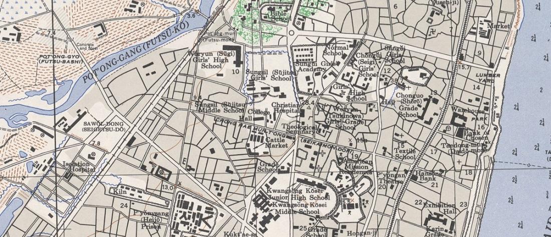 Pyongyang Map 1946 - UCC